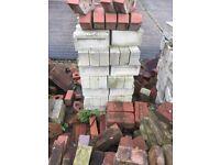 Reclaimed Rare Pressed White Bricks