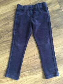 M&S girls cord leggings Age 3-4