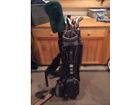 Golf Clubs and Wilson Pro Staff Bag