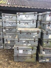 Galvanised storage trunks