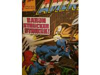 Marvel picture. Captain America and 2xcushions. Boys bedroom