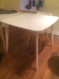 White nice dinning table