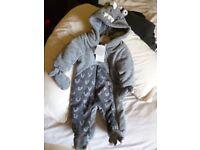 BNWT Dinosaur design Snowsuit by Next 0-3mths