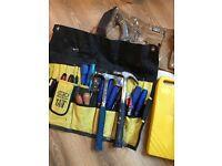 Bag of carpenters hand tools
