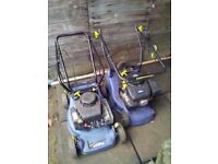 2 challenge xtreme petrol mowers for spares or repairs