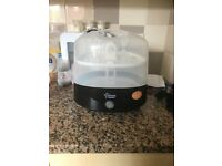 Black electric Tommee Tippee steriliser