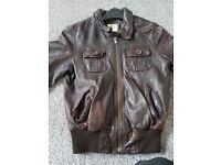 Ladies leather jacket xs