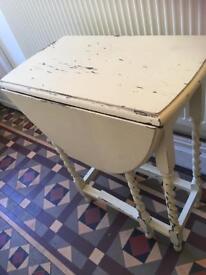 Antique Vintage Dropleaf Side Table