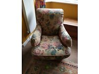 well loved and used vintage chair