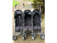 Obaby triple pushchair in very good condition