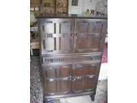 VINTAGE RETRO ORNATE TALL DRINKS CABINET. LOCK & KEY. MANY FEATURES. VIEWING / DELIVERY AVAILABLE