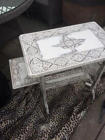 Victorian carved oak Shabby Chic table