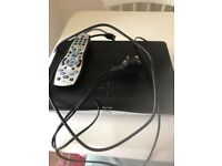 Sky box with leads and remote