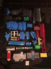 Thomas the tank tomy track and some trains
