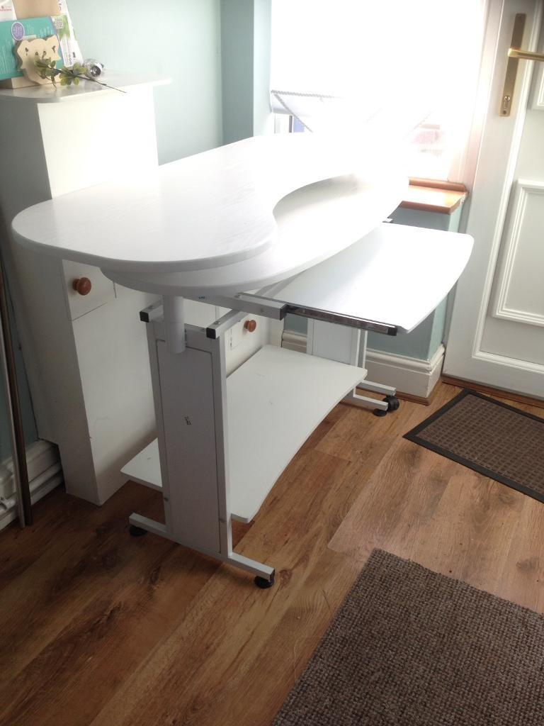 Computer Craft Desk White