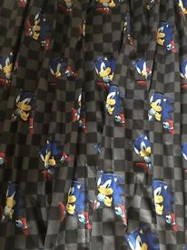 Sonic the hedgehog curtains x2