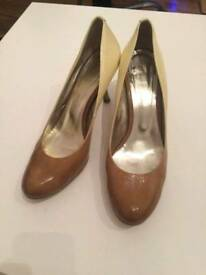 Beige-brown high heels