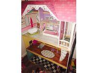 ELC large wooden dolls house ( fits barbies )