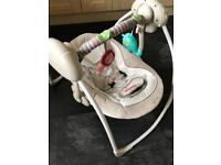Baby swing. Comfort and Harmony. Musical and auto swing.