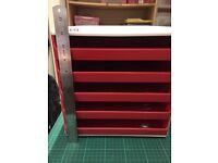 5 drawer Leitz plastic filing cabinet