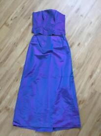 Monsoon Evening Bodice and Skirt size 12/14 Iridescent Purple