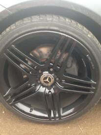 "Mercedes 19"" AMG black alloy wheels"