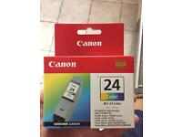 Canon BCI-24 Color Cartridge. Genuine. Unopened.