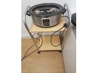 Used digital hot stone massage heater including stones