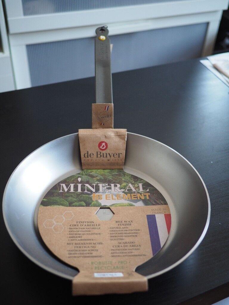 De Buyer Mineral B Element carbon steel frying pan 28 cm - new and ...