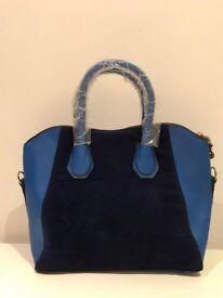 Blue Ladies Handbag with adjustable strap