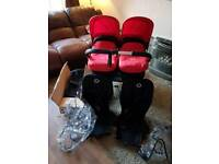 Bugaboo Donkey Double Pram *Red~Baby & Toddler or Twins*