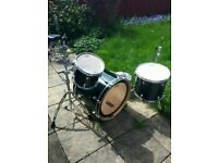 Mapex M series Fusion drum kit with Pearl soft cases
