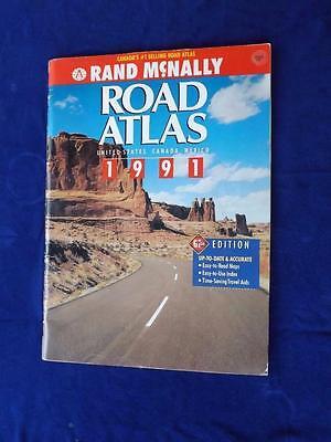1991 ROAD ATLAS RAND MCNALLY UNITED STATES CANADA MEXICO