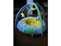 Happy Safari Playnest And Gym. Inflatable. Detachable Top. Age From Birth. Good Condition. £10.
