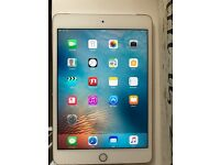 iPad mini 4 cellular + wifi 16gb white and gold
