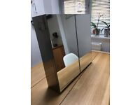 Bathroom cabinet mirrored exterior and interior good condition