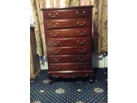 Mahogany TallBoy /Chest of Drawers