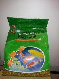 Tetra fish pond pellets, brand new unopened 7 litre