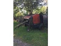 Hay bailer, mower, Hay bob and trailer