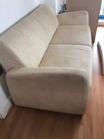 2 Cream coloured sofas to give away for free. Must go by WED!