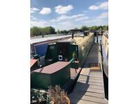 61ft NARROW BOAT MOORED NEAR UXBRIDGE