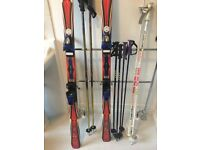 Rossignol Carver Skis and poles