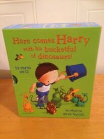 Harry & his bucketful of dinosaurs CD & book set