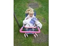 2 KIDS PUSHCHAIRS WITH DOLL AND CLOTHES £10 EACH