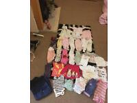 Baby girl newborn clothes and maternity jeans
