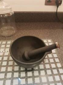 Cast Iron pestle & morter