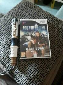 doctor who wii game and sonic wii remote