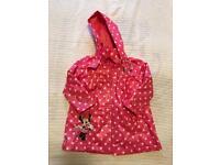 Pink Minnie raincoat size 2-3