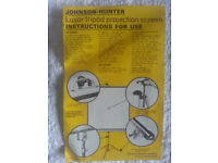 Luxor Johnson-Hunter Projection screen with inbuilt metal tripod stand (vintage)