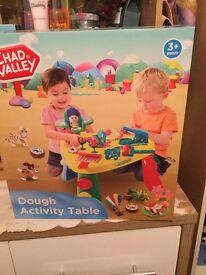 Brand new playdoh table